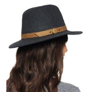 NWT Frye Harness Wool Felt Tall Crown Fedora Hat
